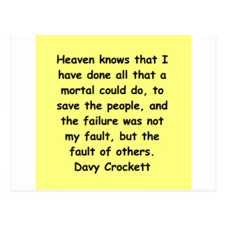 davy crockett quote postcard