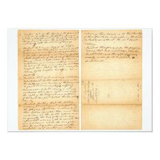 Davy Crockett's West Point Resolution 1830 Card
