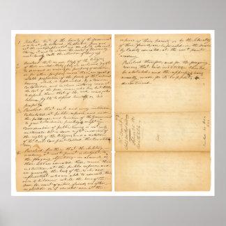 Davy Crockett's West Point Resolution 1830 Poster