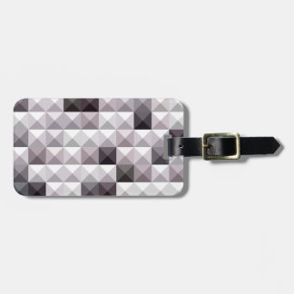 Davy Gray Abstract Low Polygon Background Bag Tag