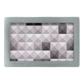Davy Gray Abstract Low Polygon Background Belt Buckle