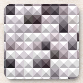 Davy Gray Abstract Low Polygon Background Beverage Coaster