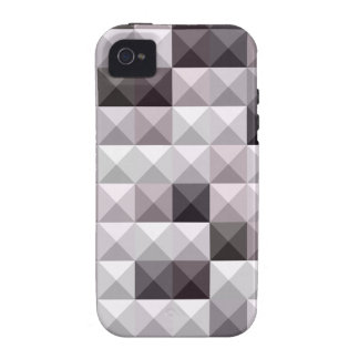 Davy Gray Abstract Low Polygon Background Case-Mate iPhone 4 Cover