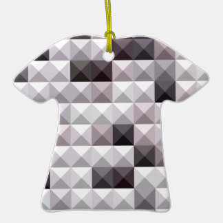 Davy Gray Abstract Low Polygon Background Ceramic Ornament