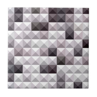 Davy Gray Abstract Low Polygon Background Ceramic Tile