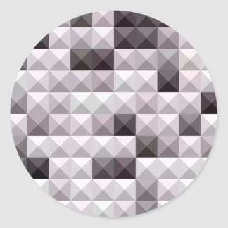 Davy Gray Abstract Low Polygon Background Classic Round Sticker