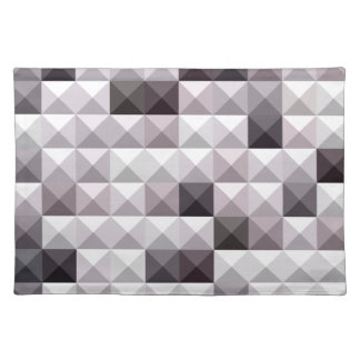Davy Gray Abstract Low Polygon Background Cloth Placemat