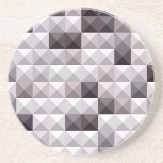 Davy Gray Abstract Low Polygon Background Coaster