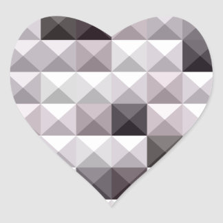 Davy Gray Abstract Low Polygon Background Heart Sticker