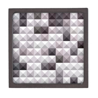 Davy Gray Abstract Low Polygon Background Jewelry Box