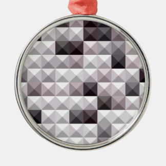 Davy Gray Abstract Low Polygon Background Metal Ornament