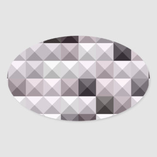 Davy Gray Abstract Low Polygon Background Oval Sticker