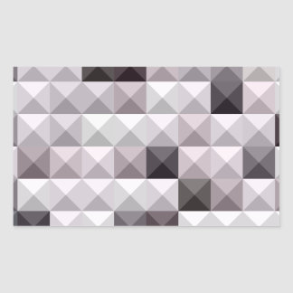 Davy Gray Abstract Low Polygon Background Rectangular Sticker