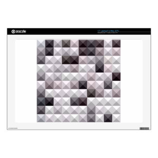 """Davy Gray Abstract Low Polygon Background Skin For 17"""" Laptop"""