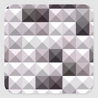 Davy Gray Abstract Low Polygon Background Square Sticker