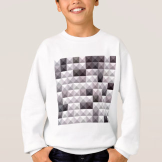 Davy Gray Abstract Low Polygon Background Sweatshirt