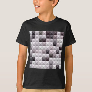Davy Gray Abstract Low Polygon Background T-Shirt