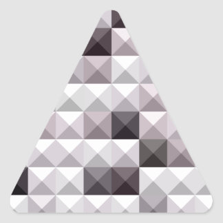 Davy Gray Abstract Low Polygon Background Triangle Sticker