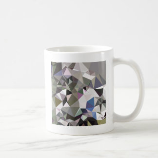 Davy Grey Abstract Low Polygon Background Coffee Mug