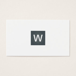 Davy Grey Monogram Square Business Card
