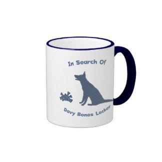 Davy Jones Bones Dog Ringer Mug