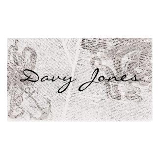 Davy Jones Business Card