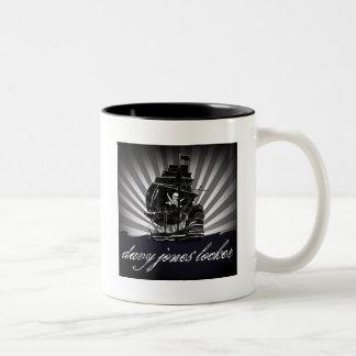 davy jones locker Two-Tone coffee mug