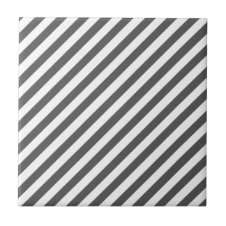 Davy's Grey Solid Color & White Stripes Tiles