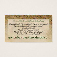 Dawah Cards (newest Version) at Zazzle