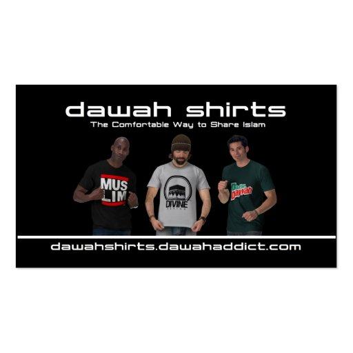 Dawah shirts black business card zazzle for Business cards for t shirt business