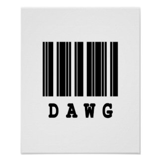dawg barcode design poster