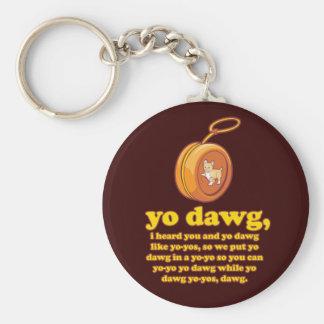 dawg del yo, oí le y el dawg del yo como los yoyos llavero redondo tipo pin