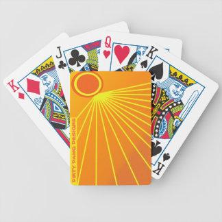 """Dawg sucio diseña naipes del """"resplandor solar"""" barajas de cartas"""