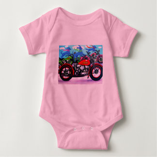 Dawgs on Hawgs - Dogs on Motorcycles Infant Creeper