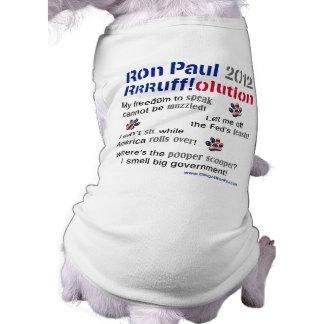 Dawgz 4 Ron Paul 2012 Dog T-shirt