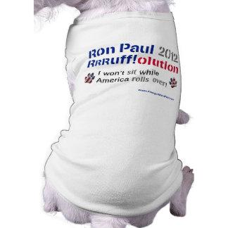 Dawgz 4 Ron Paul Dog T-shirt: America Rolls Over Dog T-shirt