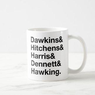 Dawkins&Hitchens&Harris&Dennett&Hawking - ciencia Taza Clásica