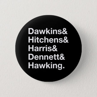 Dawkins&Hitchens&Harris&Dennett&Hawking - Science Pinback Button