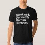 Dawkins y Dennett y Harris y Hitchens. Playeras