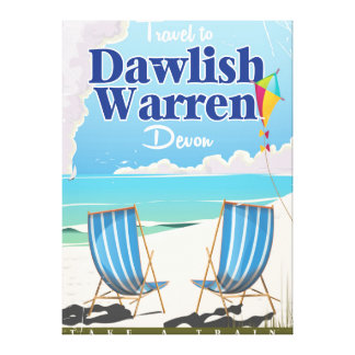 Dawlish Warren Devon vintage train poster Canvas Print