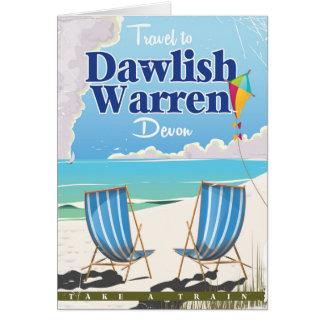 Dawlish Warren Devon vintage train poster Card