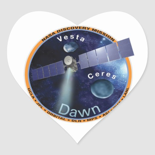 DAWN - A NASA Discovery Mission Heart Stickers