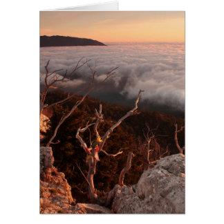 Dawn Ai-Petri Yaila nature reserve, Alupka Russia Card