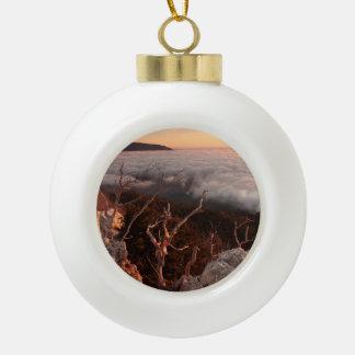 Dawn Ai-Petri Yaila nature reserve, Alupka Russia Ceramic Ball Christmas Ornament