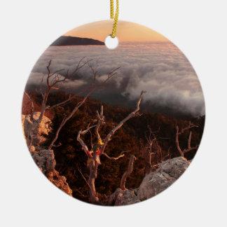 Dawn Ai-Petri Yaila nature reserve, Alupka Russia Ceramic Ornament