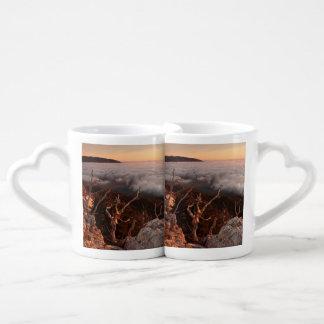 Dawn Ai-Petri Yaila nature reserve, Alupka Russia Coffee Mug Set
