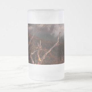 Dawn Ai-Petri Yaila nature reserve, Alupka Russia Frosted Glass Beer Mug