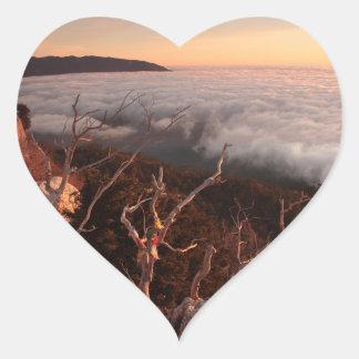 Dawn Ai-Petri Yaila nature reserve, Alupka Russia Heart Sticker