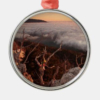 Dawn Ai-Petri Yaila nature reserve, Alupka Russia Metal Ornament