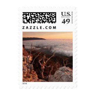 Dawn Ai-Petri Yaila nature reserve Alupka Russia Stamps